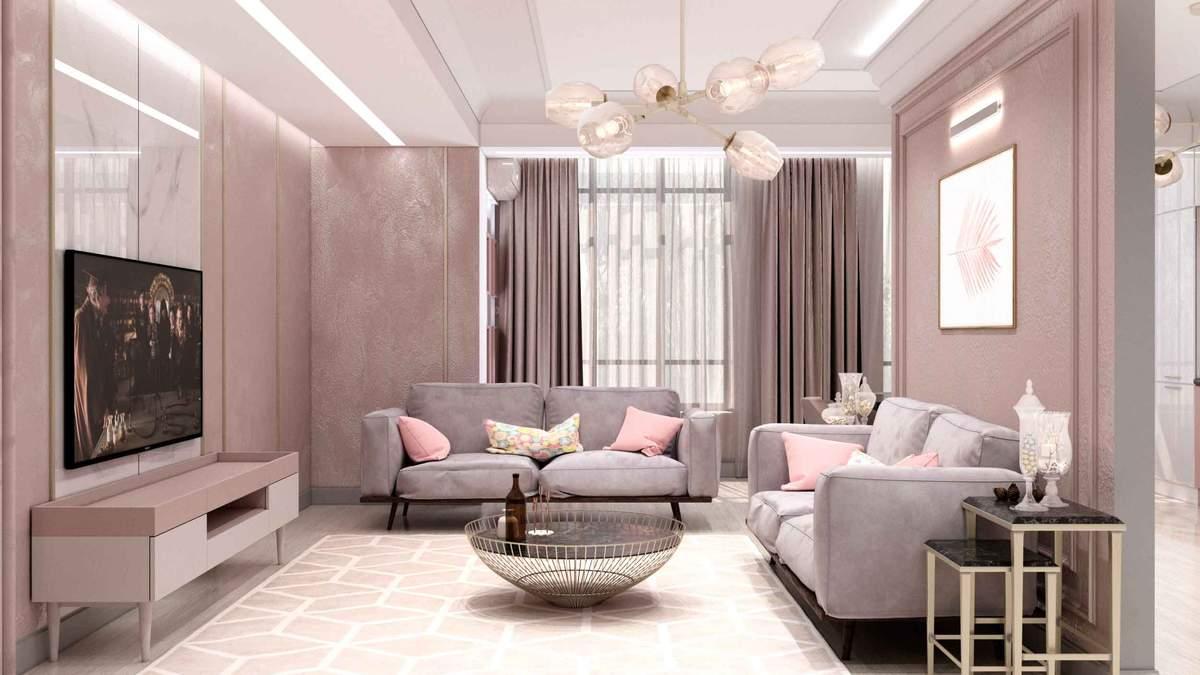 Кращі колірні поєднання для невеликої вітальні: фото