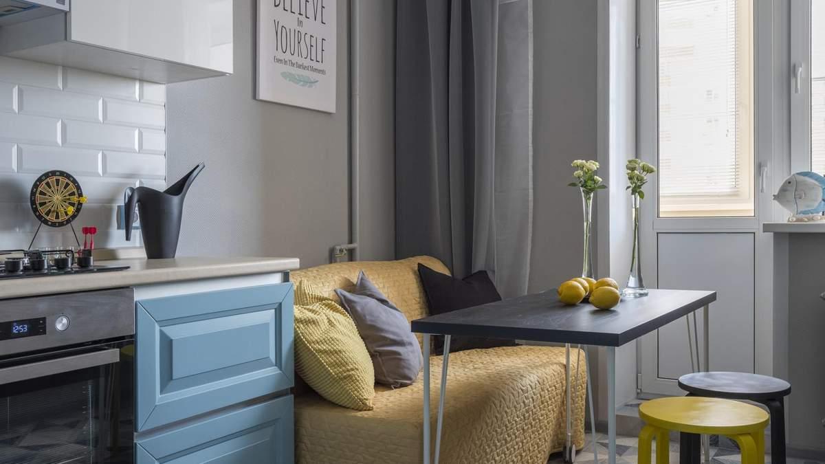 Кухня с диваном: особенности оформления и фото