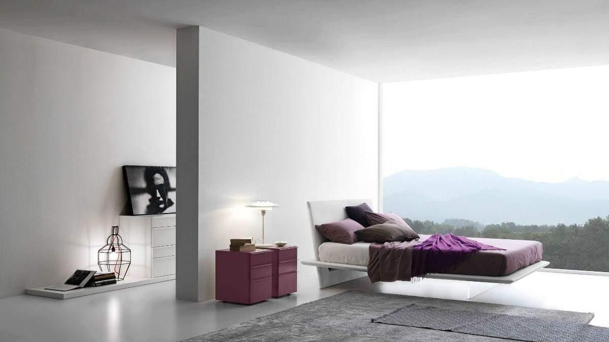 Парящая кровать в интерьере: особенности и примеры