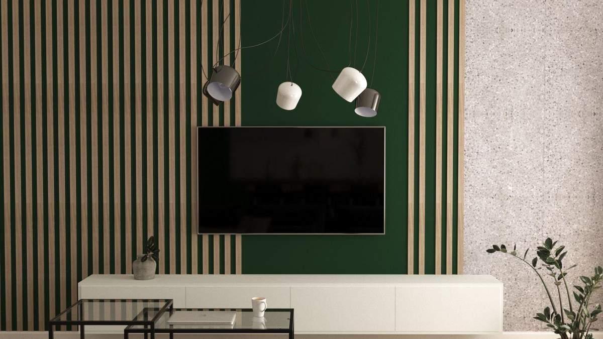 Стена за телевизором: 7 интересных идей, как ее оформить