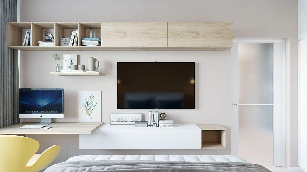 Телевизор в гостиной, спальне и кухне: как и где его разместить