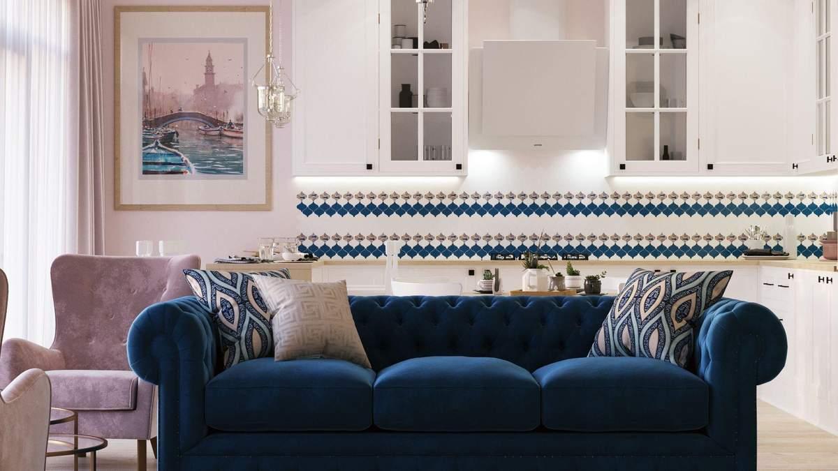 Как разместить диван в маленькой кухне-гостиной: 3 лучших варианта