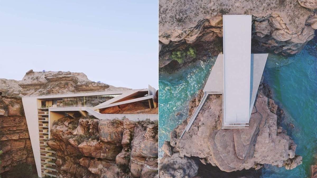 Життя у скелі: у Канаді звели житлову споруду в приголомшливому місті - Нерухомість