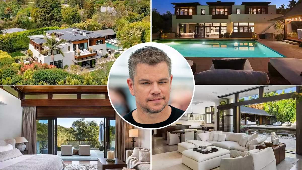Голливудский актер Мэтт Дэймон снизил цену на роскошный особняк в Лос-Анджелесе: в чем причина - Недвижимость