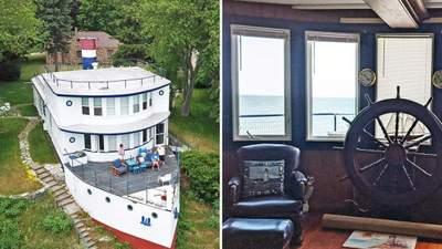 Символ району: на продаж виставлено незвичний будинок у формі корабля
