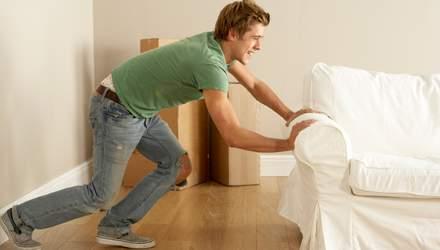 Как передвинуть тяжелую мебель самостоятельно: полезные советы