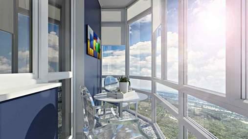 Балкон з панорамними вікнами: як оформити – фото