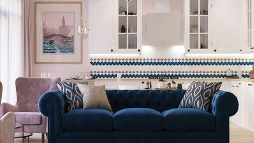 Где разместить диван в маленькой кухне-гостиной: 3 лучших варианта