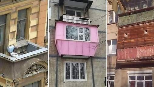 Самые нелепые и смешные балконы в мире: как они выглядят