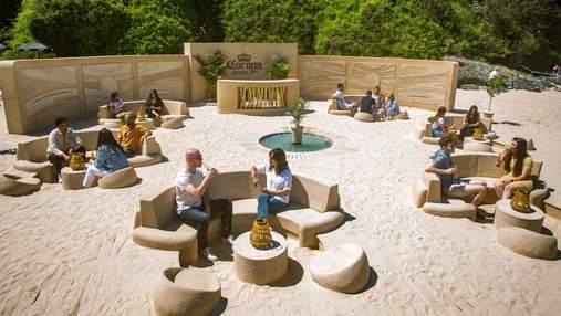 У Великій Британії побудували паб з піску: як він виглядає