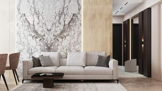 Мрамор в интерьере квартир и домов: особенности и примеры
